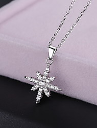 Pendant Necklaces Jewelry Sterling Silver Round Basic Flower Style Animal Design Fashion Silver Jewelry Daily Casual 1pc