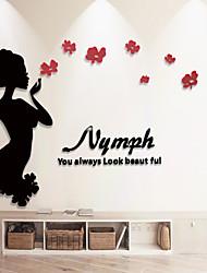 Personnes Stickers muraux Autocollants muraux 3D Autocollants muraux décoratifs,Vinyle Matériel Décoration d'intérieur Calque Mural