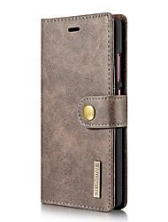 Для Кошелек Бумажник для карт Флип Кейс для Чехол Кейс для Один цвет Твердый Натуральная кожа для HuaweiHuawei P10 Plus Huawei P10 Huawei