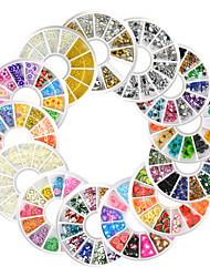 13pcs New Nail Art Rhinestones Glitters Acrylic Tips Manicure Wheel Fimo Pearl Studs Alloy Nail Decoration