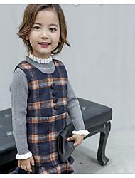 Girl's Casual/Daily Plaid Dress,Rayon Winter Fall Long Sleeve