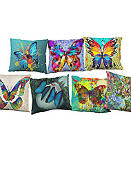 Set of 7 Colorful butterfly pattern  Linen Pillowcase Sofa Home Decor Cushion Cover