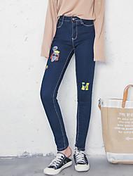 signer de nouveaux femmes brodé jean patch mince pantalon considérablement minces