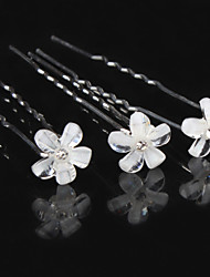 Hot Dish Hair Flower Bride U-Shaped Clamp Diamond Tiara Fashion Hair Hair Pin  6pcs