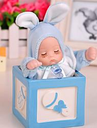 1 PC Ceramic Head Baby Rabbit Home Furnishing Ornaments Exquisite Couple Glass Music Box Music Box Creative Christmas Decoration Home Furnishing