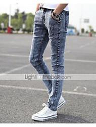 AOLONGQISHI® Men's Casual Pure Pant (Cotton/Denim) 8191