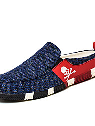 Men's Loafers & Slip-Ons Spring Summer Fall Winter Comfort Fabric Casual Flat Heel Black Blue Other