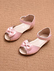 Girl's Sandals Comfort PU Casual Yellow Pink