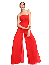 Sheath / Column Strapless Floor Length Chiffon Prom Formal Evening Dress with Draping Ruching by TS Couture®