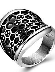 Men Punk Vintage Casual Fashion Originality Stainless Steel Tide Ring Charm Women Ring 316L Titanium Steel Party Jewelry
