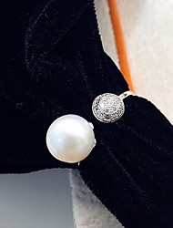 Ring Pearl Fashion White Jewelry Daily Casual 1pc