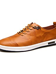 Men's Oxfords / New Style / Leisure / Comfort/ Casual / Leather / Black / Brown / Yellow / Hot Sale