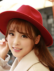 2017 Fashion Spring And Autumn New Double Leather Rope Wool Hat Hat Jazz Ms. Spring Hat