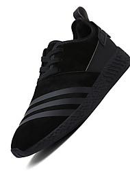 Femme-Sport-Noir Bleu Gris-Talon Plat-Confort-Chaussures d'Athlétisme-Daim