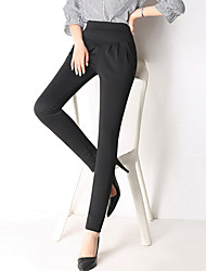 Women's Plus Size OL Style Slim Harem Chinos Trousers Pants Work Simple Solid High Rise Elasticity Stretchy All Seasons