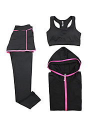Women's Long Sleeve Running Sports Bra Clothing Sets/Suits Breathable Quick Dry Sports Wear Yoga Exercise & Fitness RunningModal