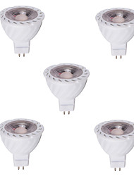 5pcs MR16 5W LED Spotlight COB Warm /Cool White Decorative COB LED Recessed Lighting(12V)