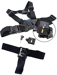 TELESIN Head Strap Belt Mount Chest Belt Strap Harness Mount Aluminum Thumbscrew J-hook for Polaroid cube