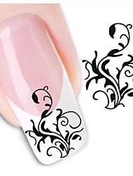 1sheet  Water Transfer Nail Art Sticker Decal XF1454