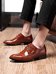 Men's Shoes Libo New Style Hot Sale Wedding / Party Fashion Low Heel Classic Oxfords Brown / Black / White / Wine
