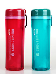 Double Wall Sports Plastic Water Bottle 600ml with Handle