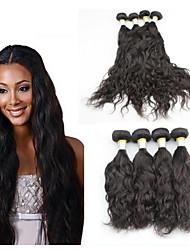 Peruvian Hair Products Natural Wave Hair 4Pieces Lot Peruvian Virgin Hair 7A Natural Color Human Hair Weft