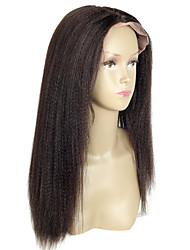 Yaki Straight Virgin Brazilian Human Hair Light Italian Yaki Full Lace Wig Glueless With Baby Hair for Women