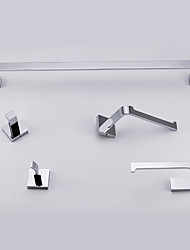 Bathroom Accessory Sets , Contemporary Chrome Wall Mounted