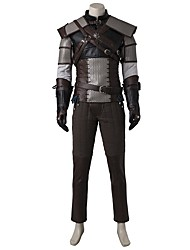 Video Game Cosplay Costumes Cosplay Suits Cosplay Tops/Bottoms Patchwork Gray BeigeCoat Vest Hakama pants