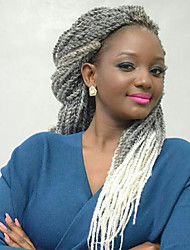 Ombre Senegalese Twist Crochet Braid Hair Synthetic Two Tone Afro Pre-twist Braiding Xpression Braid Hair Extension