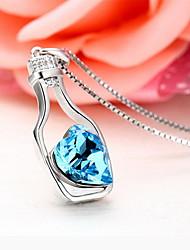 Pendants Crystal Gem Basic Unique Design Fashion Luxury Jewelry Dark Blue Jewelry Daily 1pc