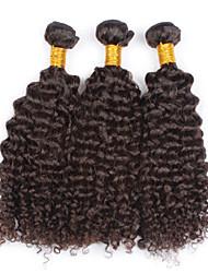 Cabelo Humano Ondulado Cabelo Brasileiro Kinky Curly 4 Peças tece cabelo