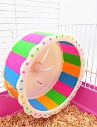 Грызуны Кролики Шиншиллы Колесо для упражнений Пластик Синий Розовый Мультиколор
