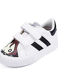 Girl's Sneakers Comfort PU Casual Black White
