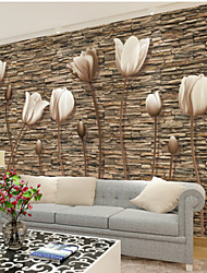 Art Deco Wallpaper For Home Wall Covering Canvas Adhesive required Mural Simple Flower Stones XXXL(448*280cm)XXL(416*254cm)XL(312*219cm)