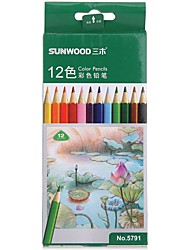 Sunwood®  5791 12 Color Pencil 12Pcs / Box