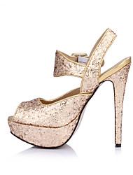 Mujer-Tacón Stiletto-Confort-Sandalias-Boda Vestido Fiesta y Noche-Sintético-Oro