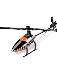 WL Toys Hélicoptère RC 6Canaux 6 Axes 2.4G - Orange Fibre de Carbone