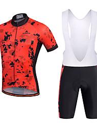 Велокофты и велошорты-комбинезоны Муж. Короткие рукава ВелоспортДышащий Быстровысыхающий Влагопроницаемость Впитывает пот и влагу