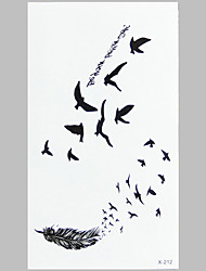 Fashion Tattoo Aerial Bird Waterproof Tattoo Stickers