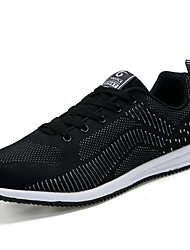 Men's Fashion Sneakers Light Soles Tulle Athletic Shoes Casual Sports Shoes Flat Heel Lace-up 3 Color EU39-43