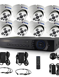 YanSe® 8CH 720P CCTV Camera D/N IR 4 LED Dome Waterproof AHD DVR KIT Security System