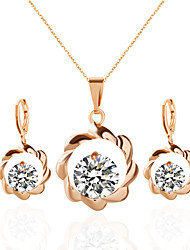 Jewelry 1 Necklace 1 Pair of Earrings Rhinestone Party Daily Alloy Acrylic Rhinestone 1set Women Gold Silver Wedding Gifts
