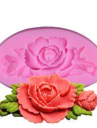 Moule de Cuisson Fleur Pour Gâteau Pour pain Pour Cookie Pour Bonbons Bourgeonnant SilikonMariage Anniversaire La Saint Valentin Action