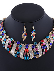 The high-end luxury fashion exquisite diamond necklace set all-match temperament set jewelry chain 0208#