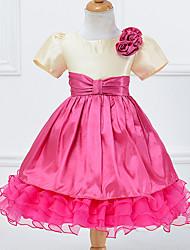 Girl's Patchwork Dress,Cotton Polyester Summer Short Sleeve