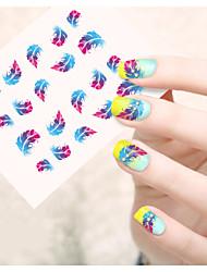 Мультипликация / Цветы / Милый-Стразы для ногтей-Пальцы рук / Пальцы ног-6.5*5.5cm-1pcs-Прочее