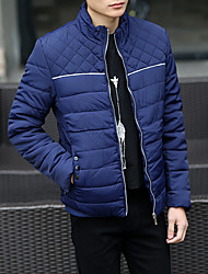 The new men cultivating cotton Korean version plus thick velvet collar padded jacket warm coat male youth