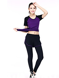 Yoga Ensemble de Vêtements/Tenus Respirable Confortable Extensible Vêtements de sport FemmeYoga