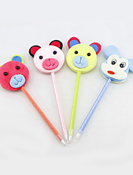 Cartoon Non-woven/Plastic Handmade Lovely Animal Craft BallPoint Pen(Two-sided)